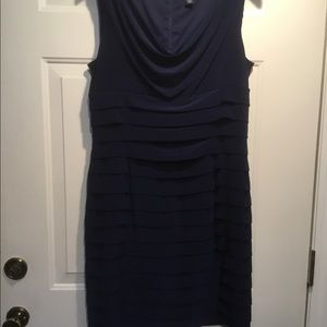 American Living Tiered Navy Blue Dress Size 16